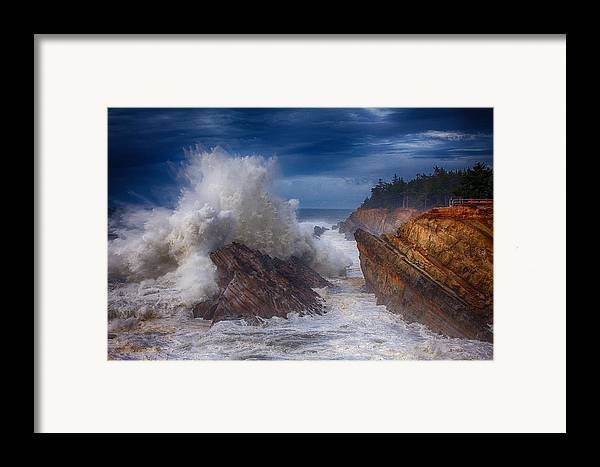 Storm Framed Print featuring the photograph Shore Acre Storm by Darren White