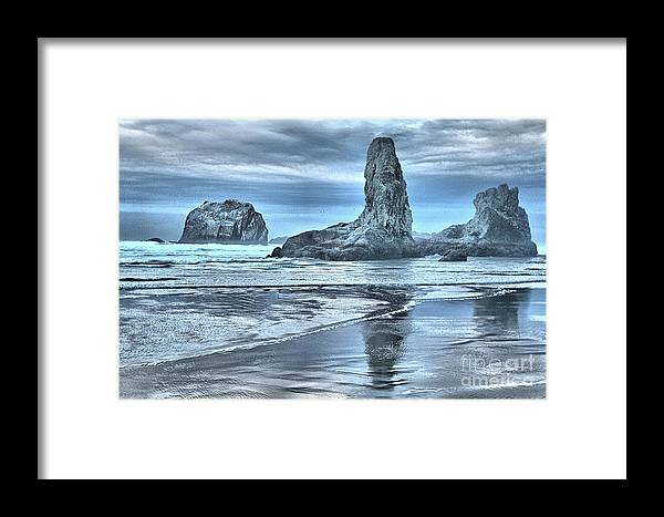 Bandon Beach Framed Print featuring the photograph Shore Guardians by Adam Jewell