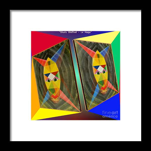 Modernism Framed Print featuring the painting Shots Shifted - Le Mage 2 by Michael Bellon