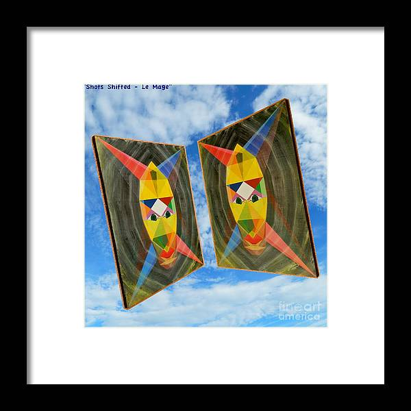 Modernism Framed Print featuring the painting Shots Shifted - Le Mage 6 by Michael Bellon