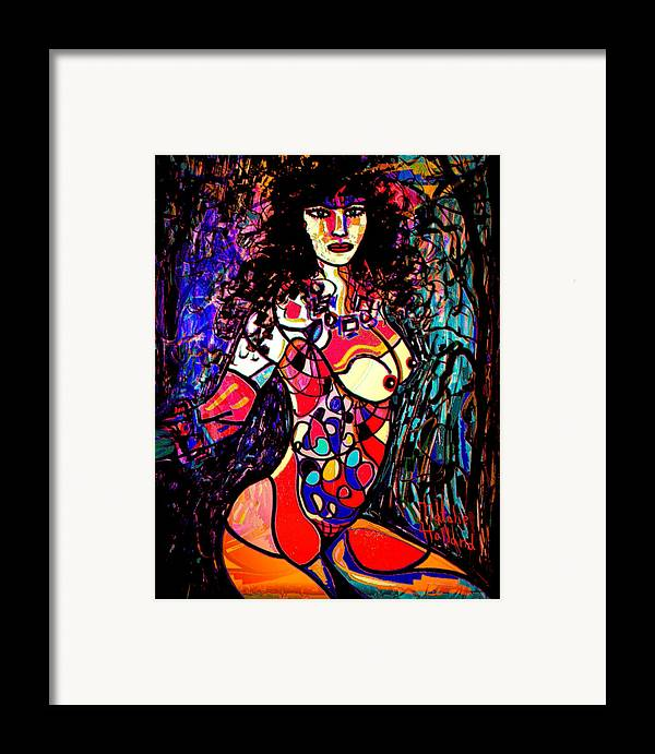 Artistic Nude Framed Print featuring the mixed media Show Off by Natalie Holland