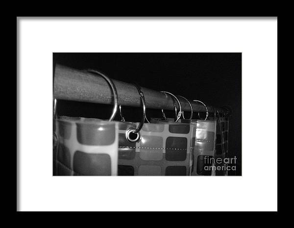 Black And White Framed Print featuring the photograph Shower Curtin Rings.... by WaLdEmAr BoRrErO