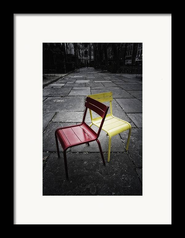 Chair Framed Print featuring the photograph Side By Side by Russell Styles