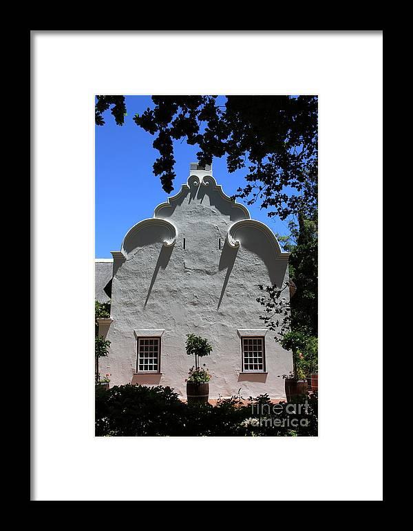 Argitecture Framed Print featuring the photograph Side Gable by David Van der Merwe