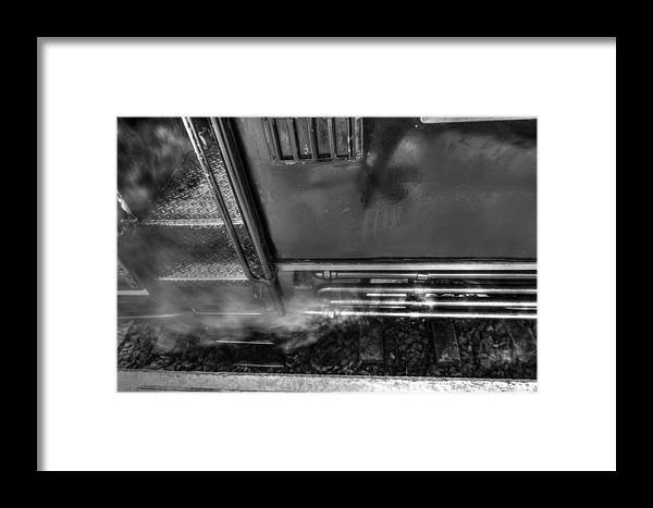 Side Of The Old Train Framed Print featuring the photograph Side Of The Old Train by Dewa Wirabuwana