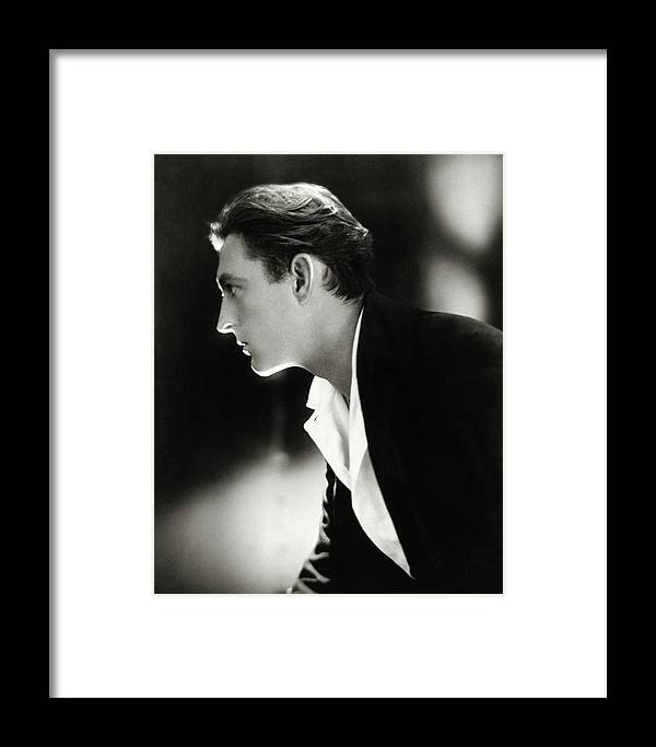 Actor Framed Print featuring the photograph John Barrymore In Profile by Adolphe De Meyer
