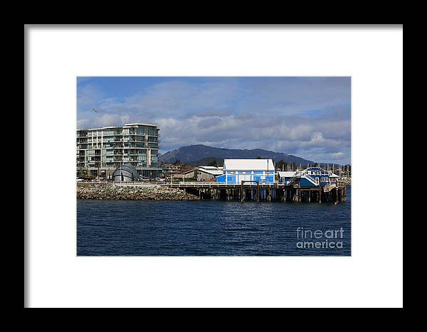 Sidney Framed Print featuring the photograph Sidney Harbour On Vancouver Island by Louise Heusinkveld