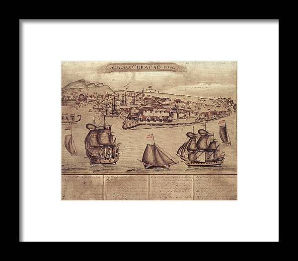 Siege Of Curacao Framed Print featuring the photograph Siege Of Curacao by Library Of Congress, Geography And Map Division