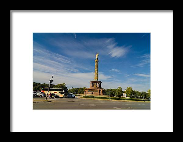 Siegessäule Framed Print featuring the photograph Siegessaule by Jonah Anderson