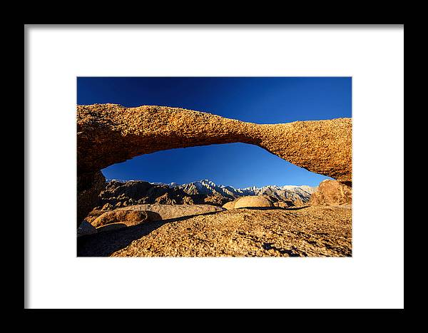 Granite Framed Print featuring the photograph Sierra Arch by Pete Piriya