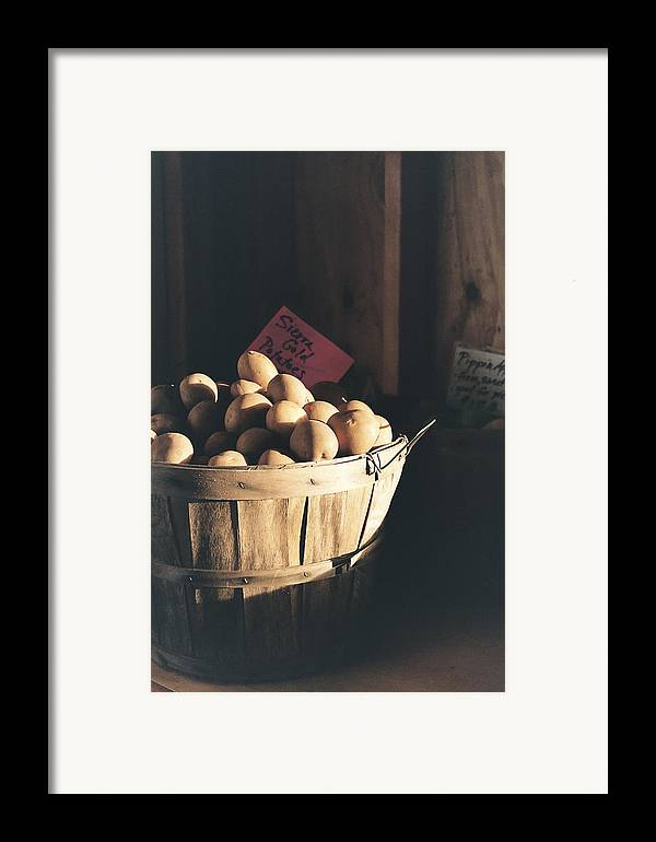 Potatoes Framed Print featuring the photograph Sierra Gold by Caitlyn Grasso
