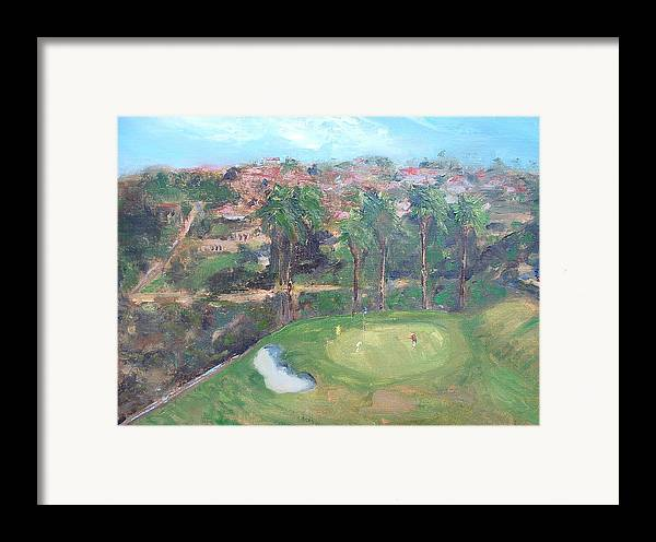 Golf San Clemente- 15th Hole -plain-air Framed Print featuring the painting Signature Hole by Bryan Alexander