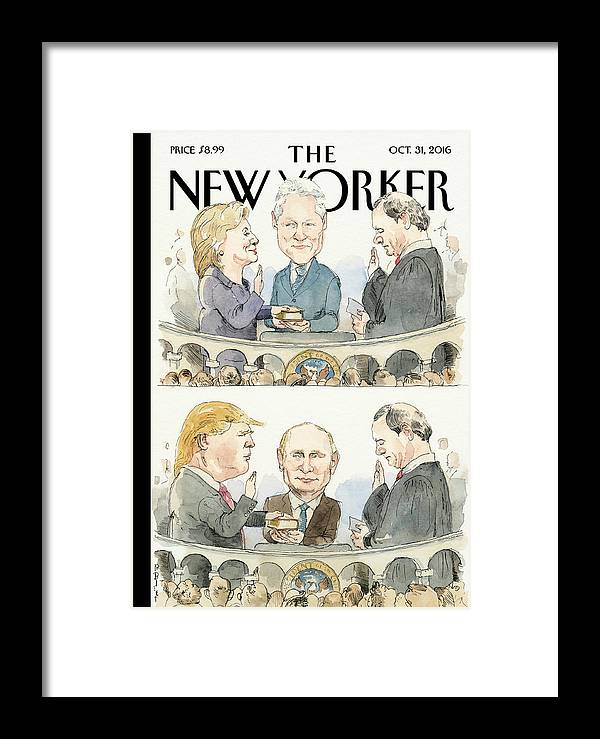 Election 2016 Framed Print featuring the painting Significant Others by Barry Blitt