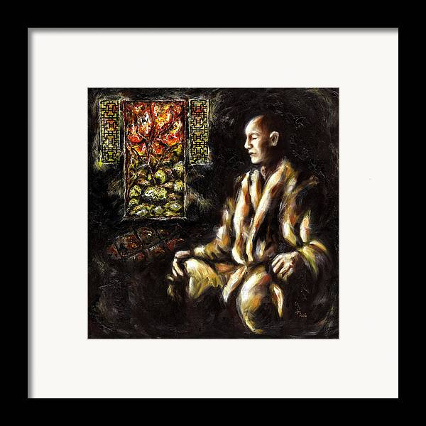 Zen Framed Print featuring the painting Silence by Hiroko Sakai