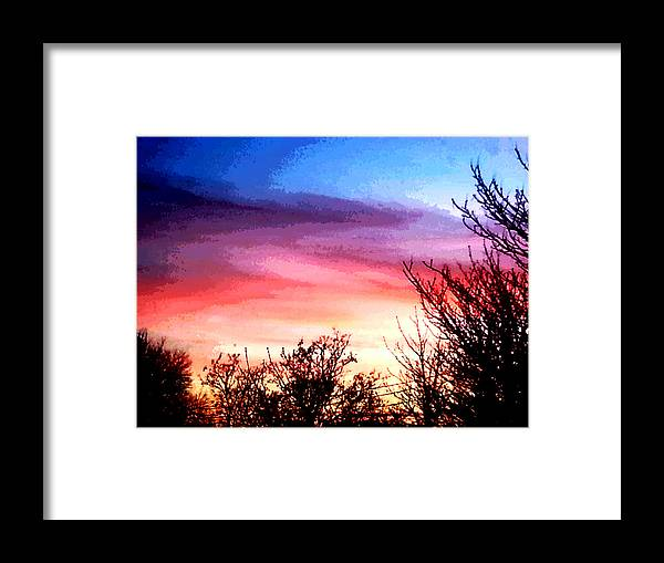 Photograph Sunset Framed Print featuring the photograph Silent Night by Nikki Dalton