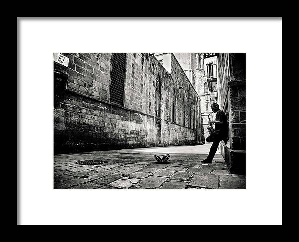 Barcelona Framed Print featuring the photograph Silent Street by Gertjan Van Geerenstein