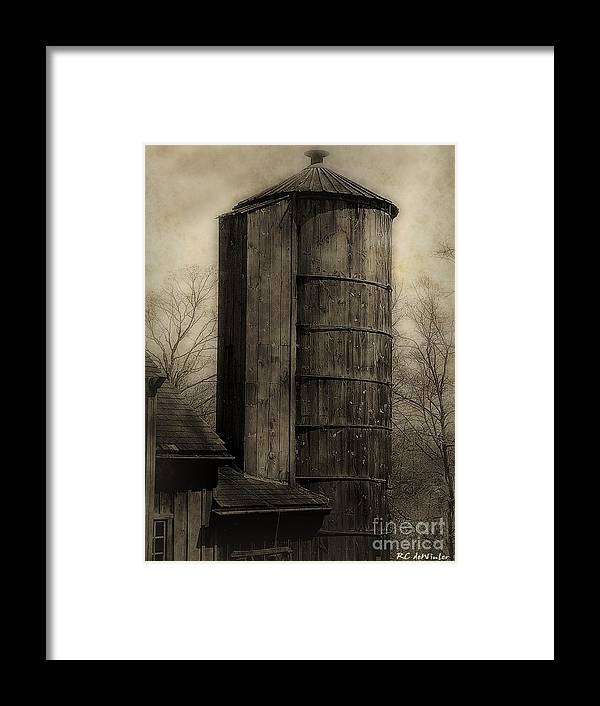 Antique Framed Print featuring the photograph Silo At Sunrise by RC DeWinter