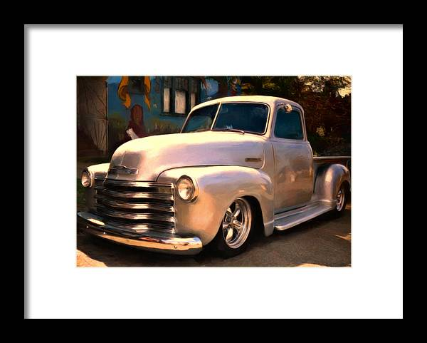 Chevy Pick Up Framed Print featuring the painting Silver Bullet by Michael Pickett