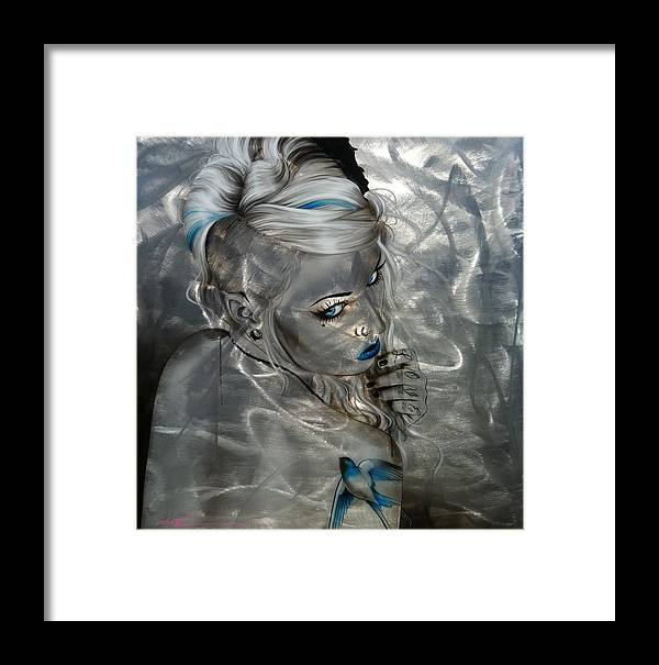Portrait Framed Print featuring the painting Silver Flight by Christian Chapman Art