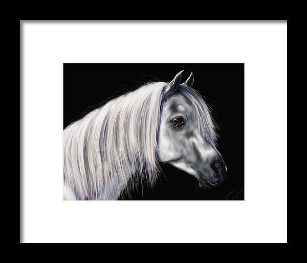 Arab Framed Print featuring the painting Grey Arabian Mare Painting by Michelle Wrighton