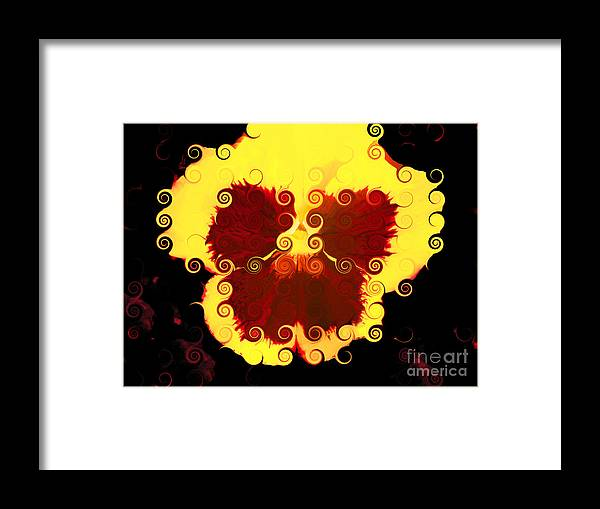 Pansy Framed Print featuring the digital art Simona by Angelica Pizano