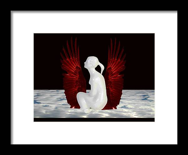 Heaven Framed Print featuring the digital art Simple Heaven by Darryl Kravitz