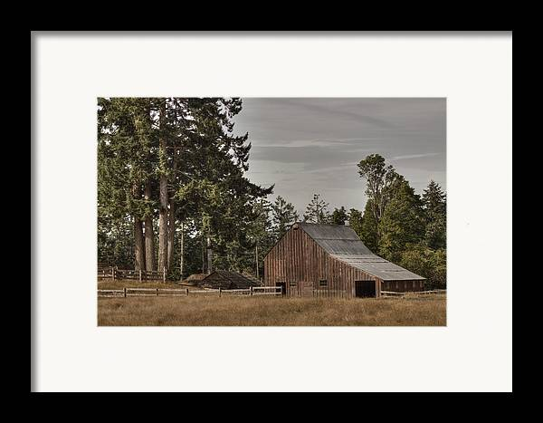 Barn Framed Print featuring the photograph Simpler Times 2 by Randy Hall