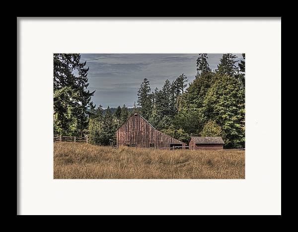 Barn Framed Print featuring the photograph Simpler Times by Randy Hall