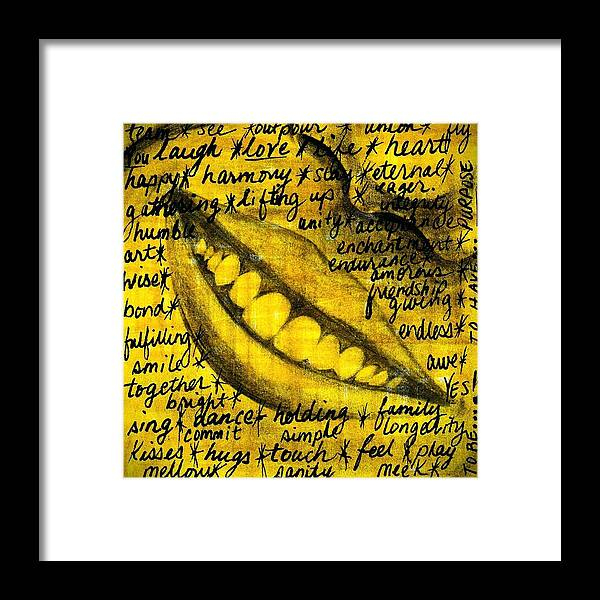 Beautiful Framed Print featuring the photograph Simply Smile and your golden virtues will be written all over you by Artist RiA