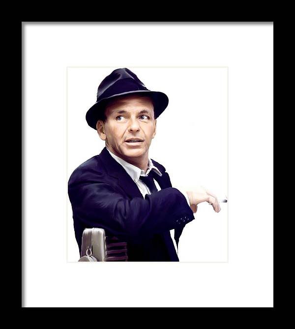 Sinatra. Frank Sinatra Framed Print by Iconic Images Art Gallery ...