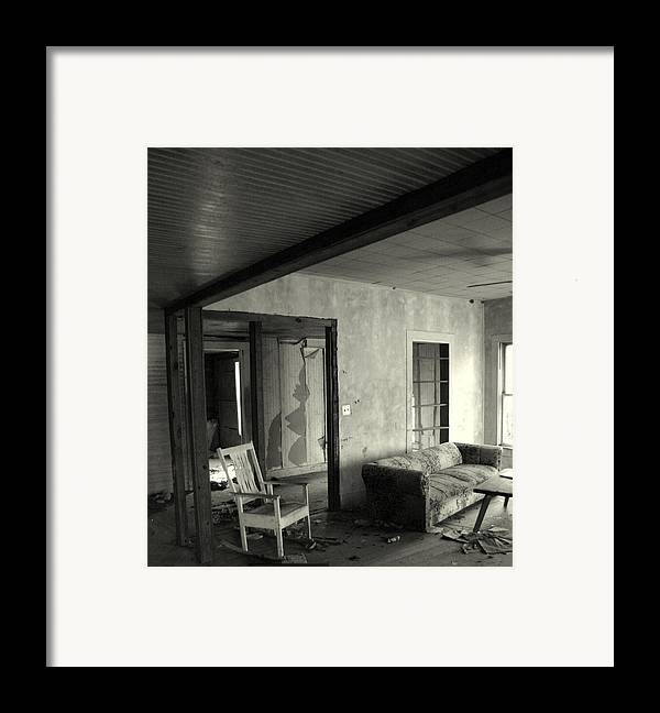 Rocking Framed Print featuring the photograph Since You Went Away by Nina Fosdick