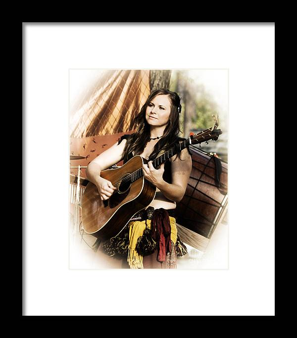 Texas Renaissance Festival Framed Print featuring the photograph Singing The Blues - High Key by TN Fairey