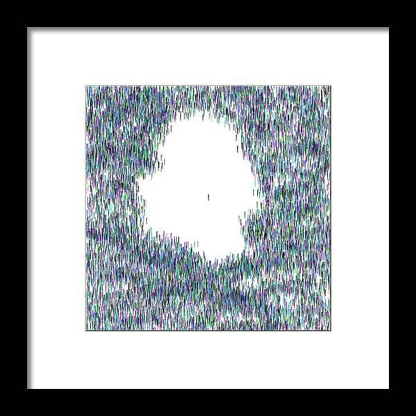 Abstract Framed Print featuring the digital art Single II ... by Tim Fillingim