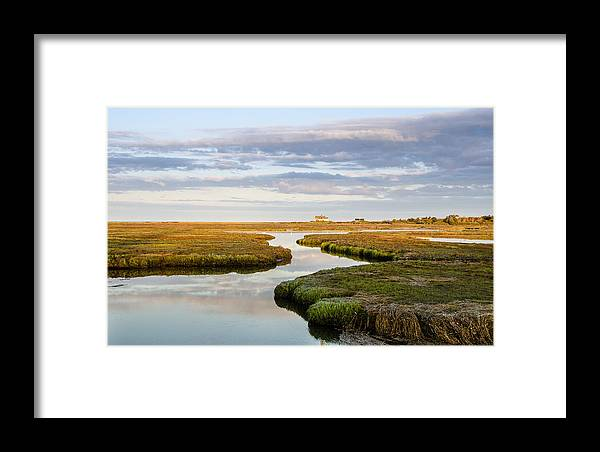 Salt Marsh Framed Print featuring the photograph Sippewissett Marsh by Jennifer Kano
