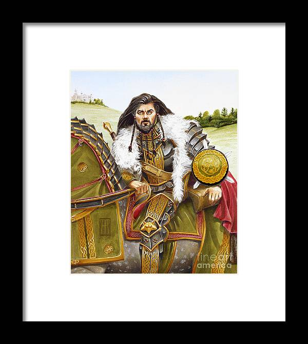 Fine Art Framed Print featuring the painting Sir Marhaus by Melissa A Benson
