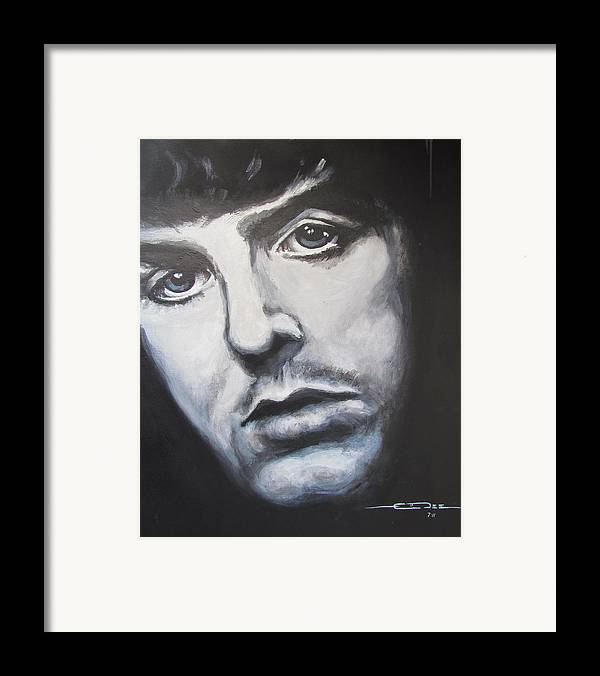 Celebrity Portrait Paul Mccartney During The Beatles Era. Framed Print featuring the painting Sir Paul Mccartney by Eric Dee