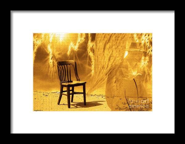 Cathy Beharriell Framed Print featuring the digital art Sitting On Edge by Cathy Beharriell
