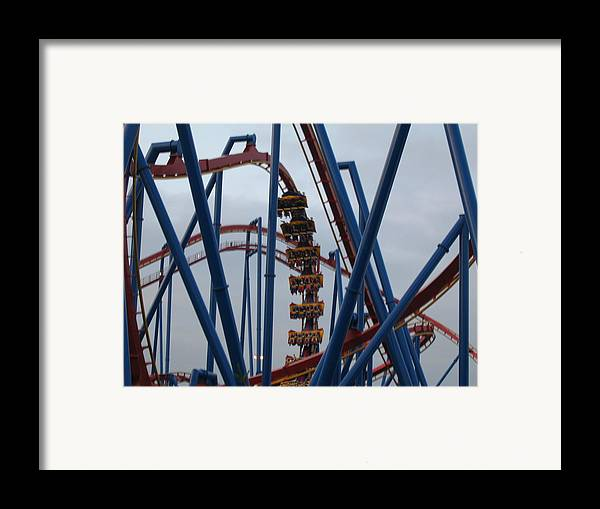 Six Framed Print featuring the photograph Six Flags Great Adventure - Medusa Roller Coaster - 12125 by DC Photographer