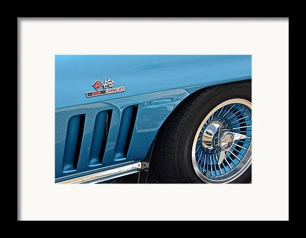 Corvette Framed Print featuring the photograph Sixty Six Corvette Roadster by Frozen in Time Fine Art Photography