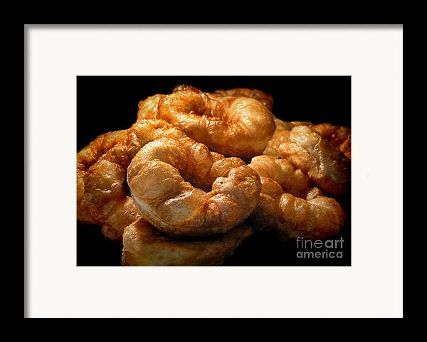Sizzling Framed Print featuring the photograph Sizzling Fresh Sfenj by Alexandra Jordankova