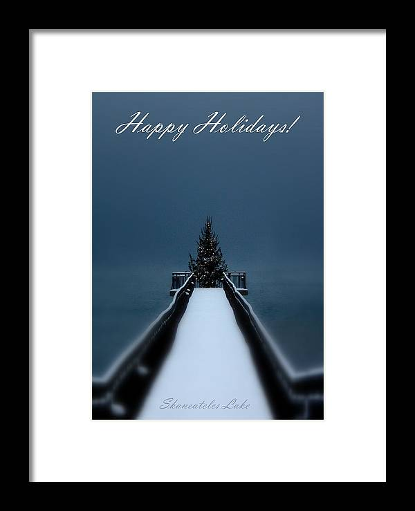 Skaneateles Lake Framed Print featuring the photograph Skaneateles Lake Holiday Card by Michael Carter