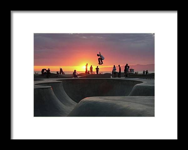 Expertise Framed Print featuring the photograph Skateboarding At Venice Beach by Mgs