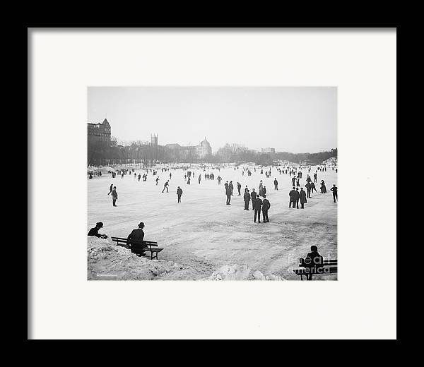 Central Park Framed Print featuring the photograph Skating In Central Park by Anonymous