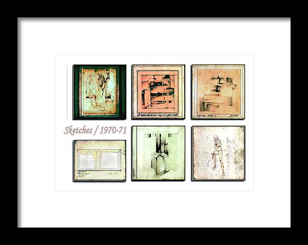 Sketches Framed Print featuring the drawing Sketches 1970 To 71 by Glenn Bautista