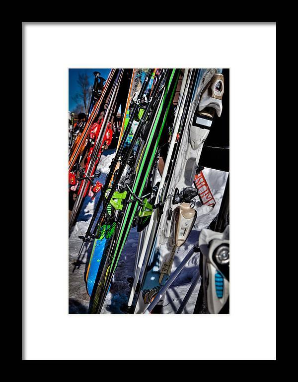 Mccauley Mountain Ski Area Framed Print featuring the photograph Skis At Mccauley Mountain II by David Patterson