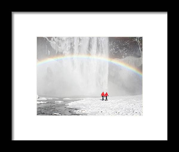 Scenics Framed Print featuring the photograph Skogafoss Waterfall, Iceland by Travelpix Ltd