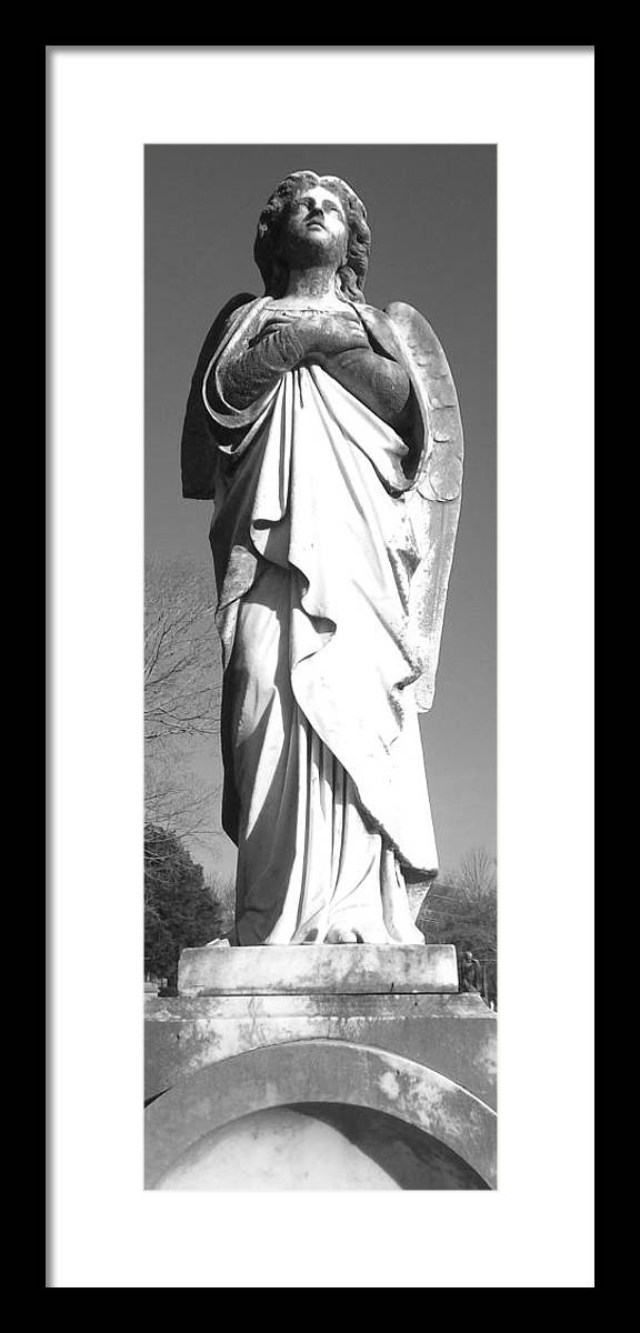 Angel Monument Framed Print featuring the photograph Sky Angel by Julie Lee