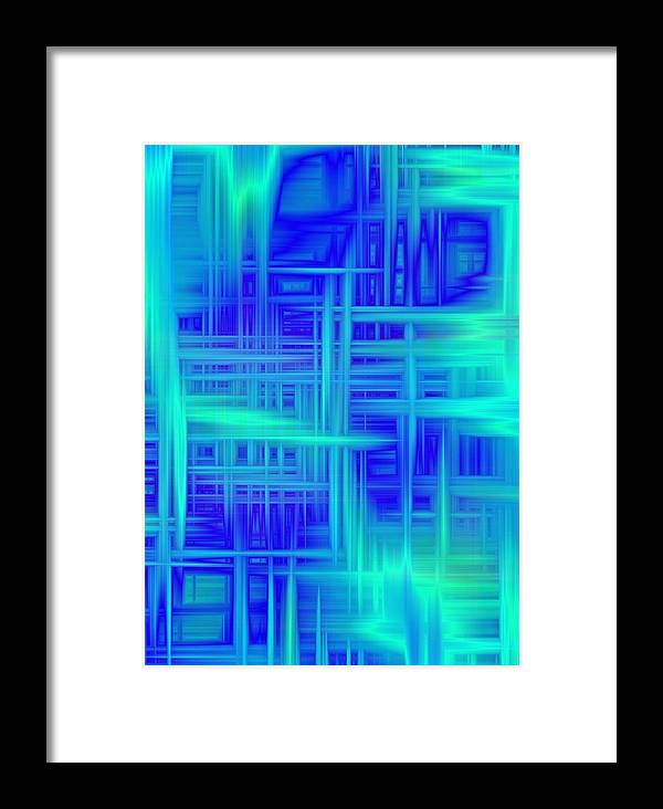 Chaos Sky Framed Print featuring the digital art Sky Chaos by Devalyn Marshall