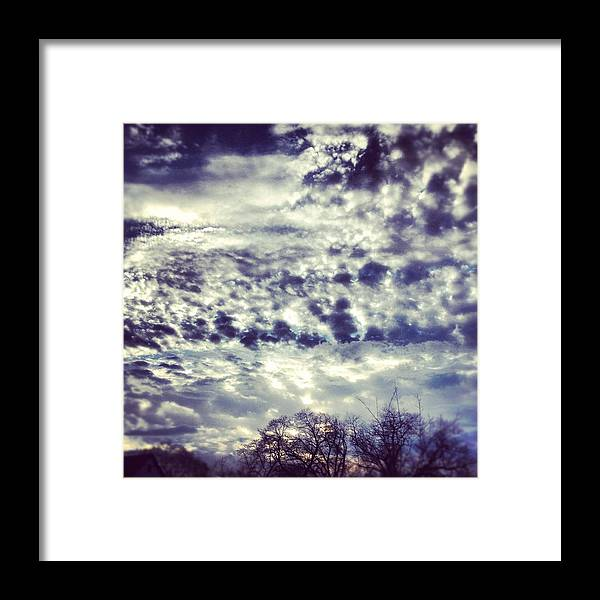 Clouds Framed Print featuring the photograph Sky by Christy Beckwith