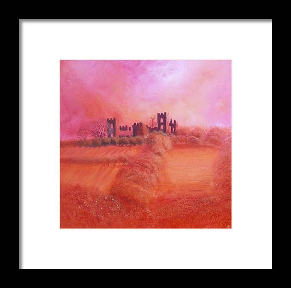 Autumn Framed Print featuring the painting Sky Over Riber Castle by Mandy-Jayne Ahlfors